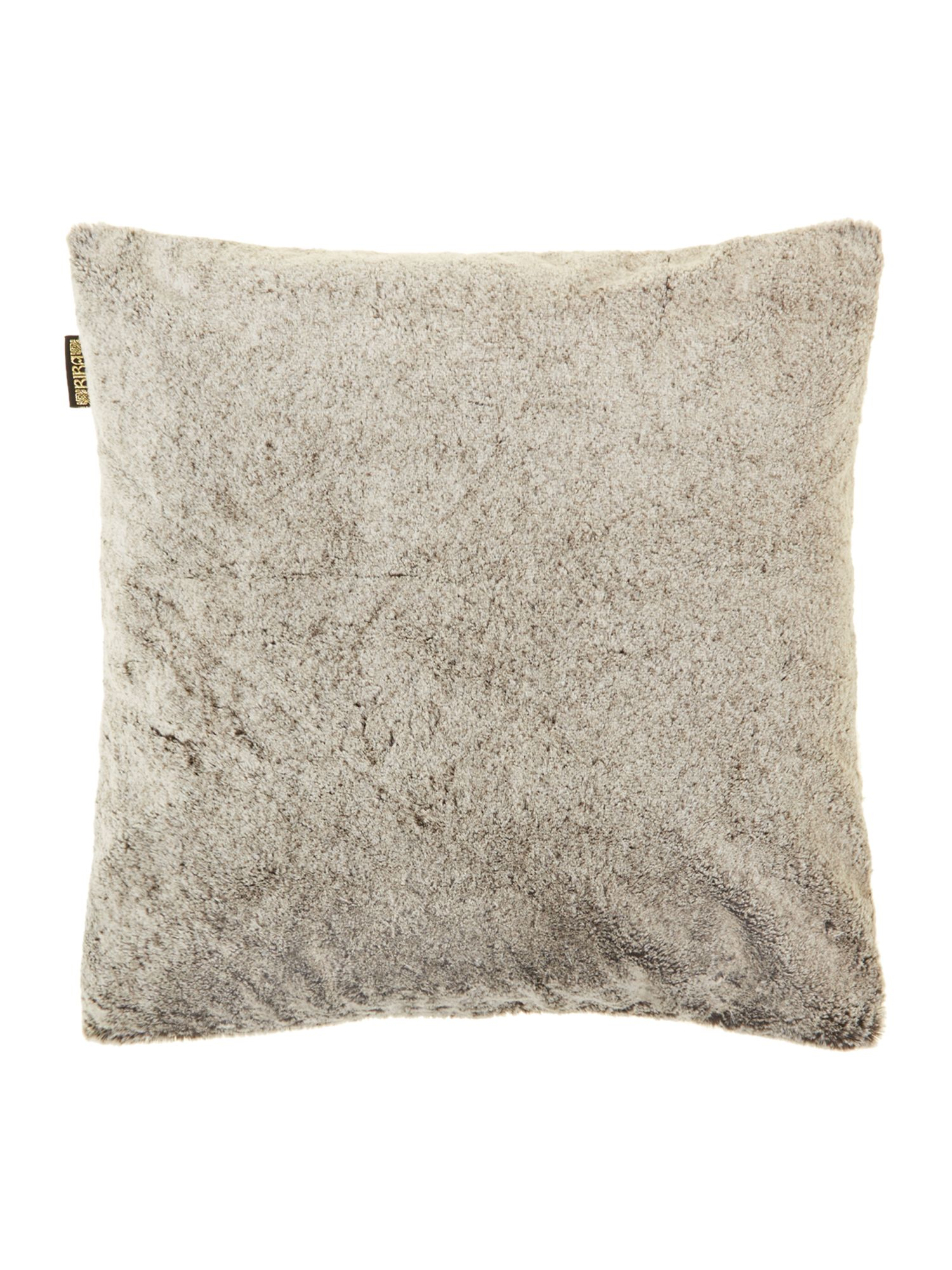 Plush silver fur cushion