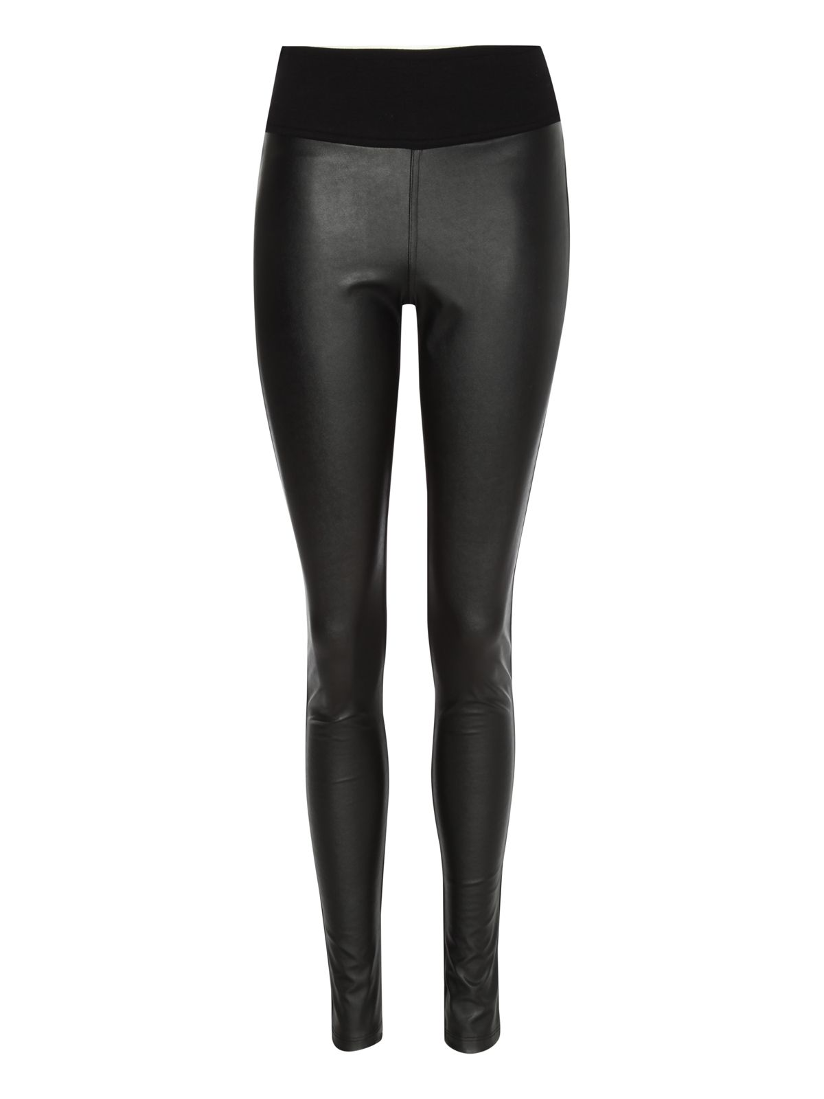 Pu front leggings