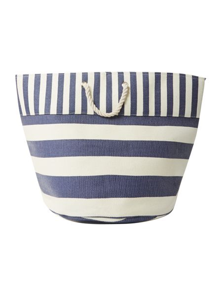Linea Blue striped laundry bag