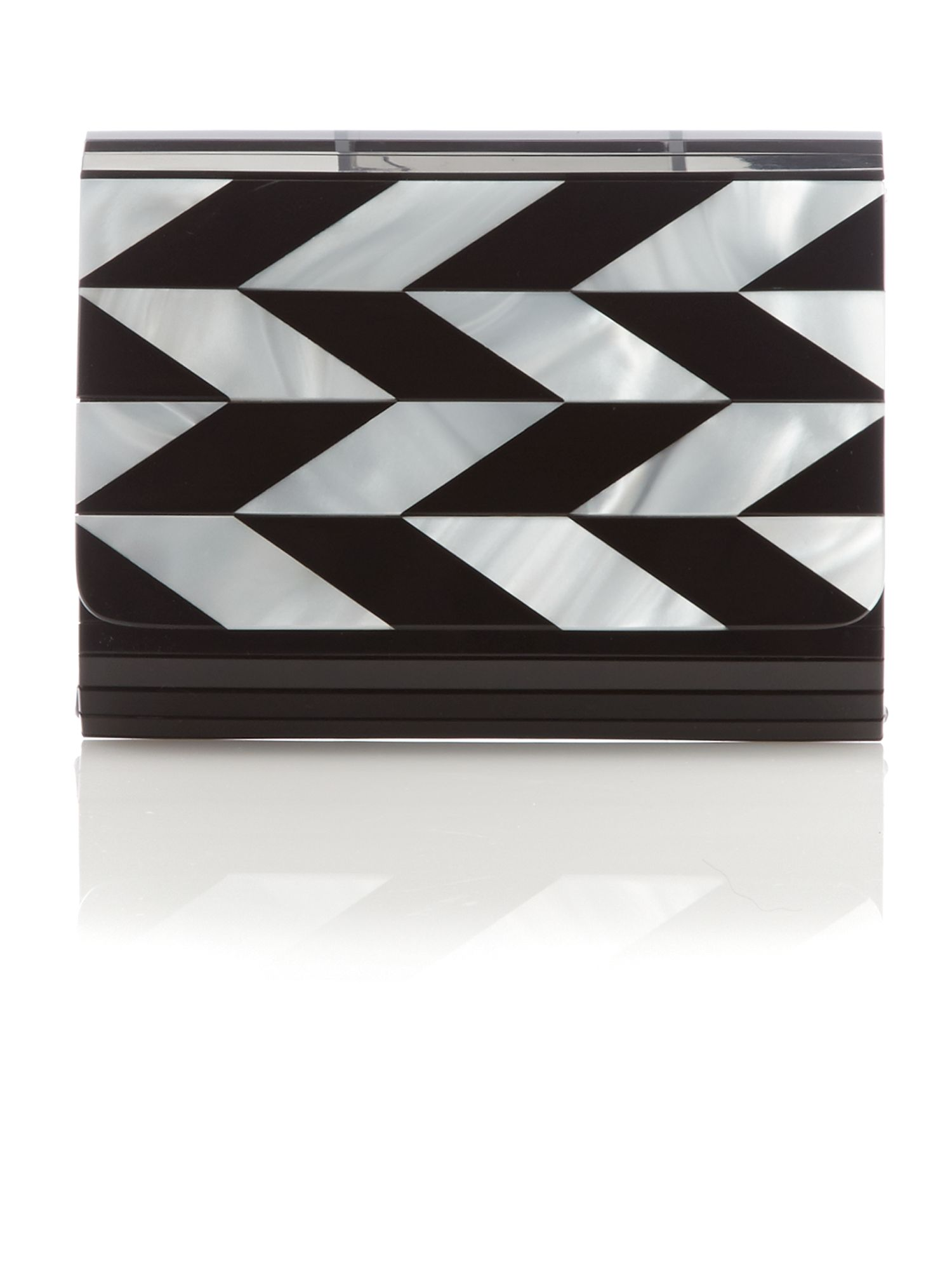 Black multi-coloured clutch bag