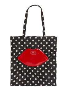 Lulu Guinness Multi-coloured foldaway tote bag