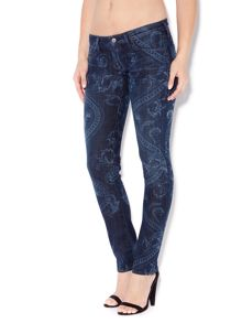 Citizens of Humanity Racer skinny printed jeans in Rococo