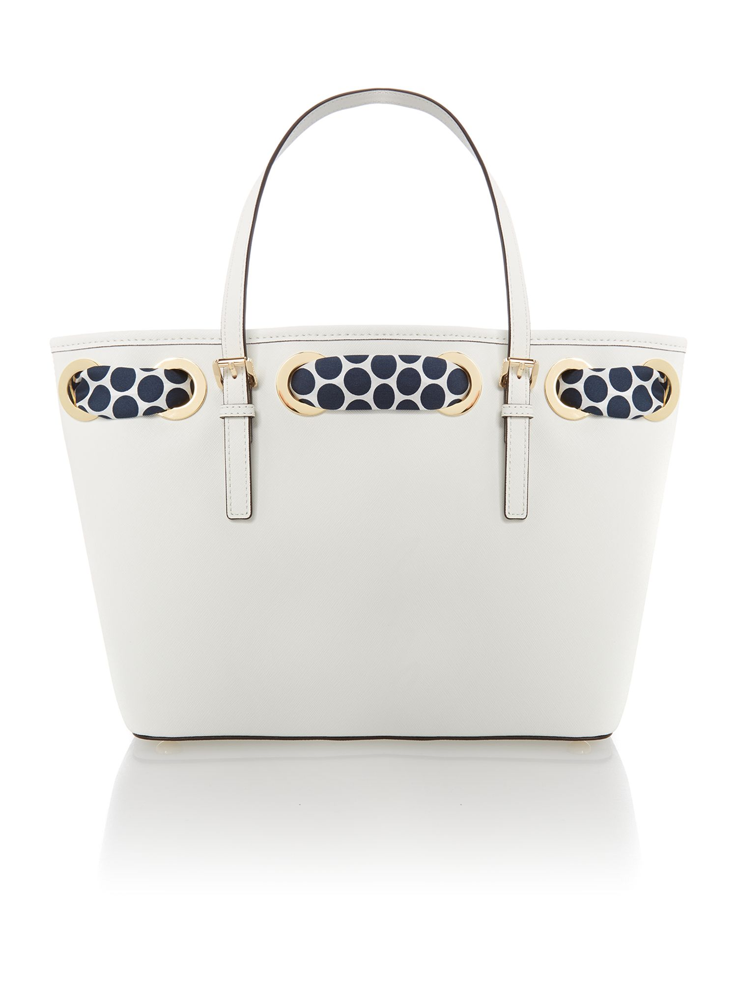 Jet set travel small white tote bag