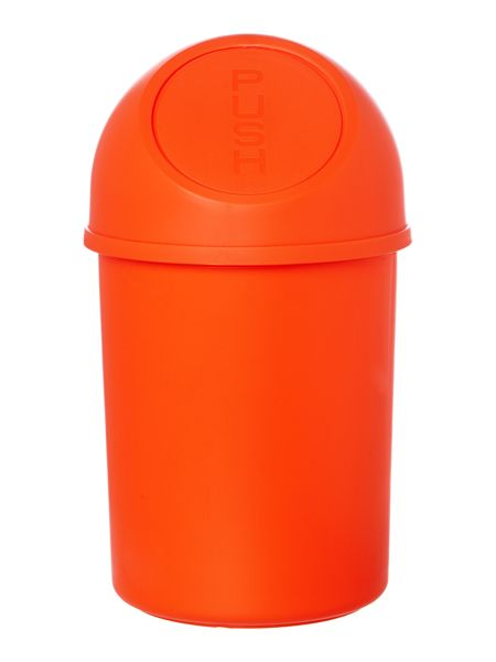 Linea Push Top Bin in Flame