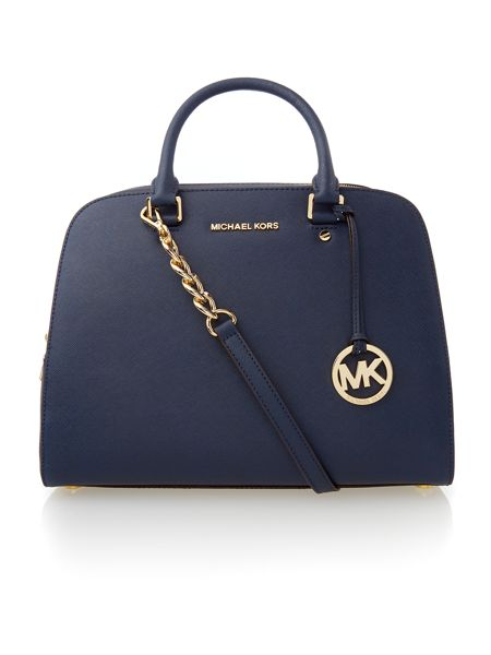 Michael Kors Jet set travel medium blue tote bag