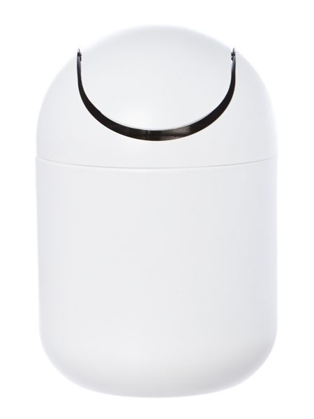 Linea Metal Swing Bin in White
