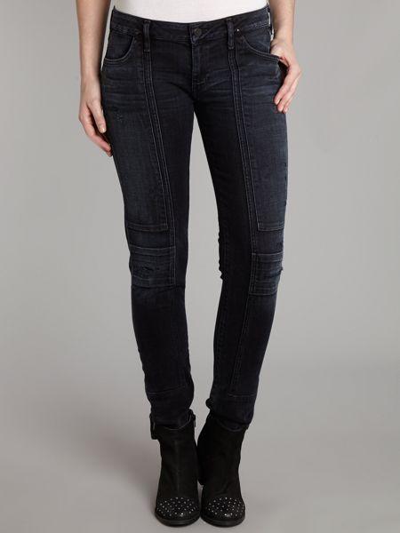 Citizens of Humanity Logan skinny moto jeans in Lithium