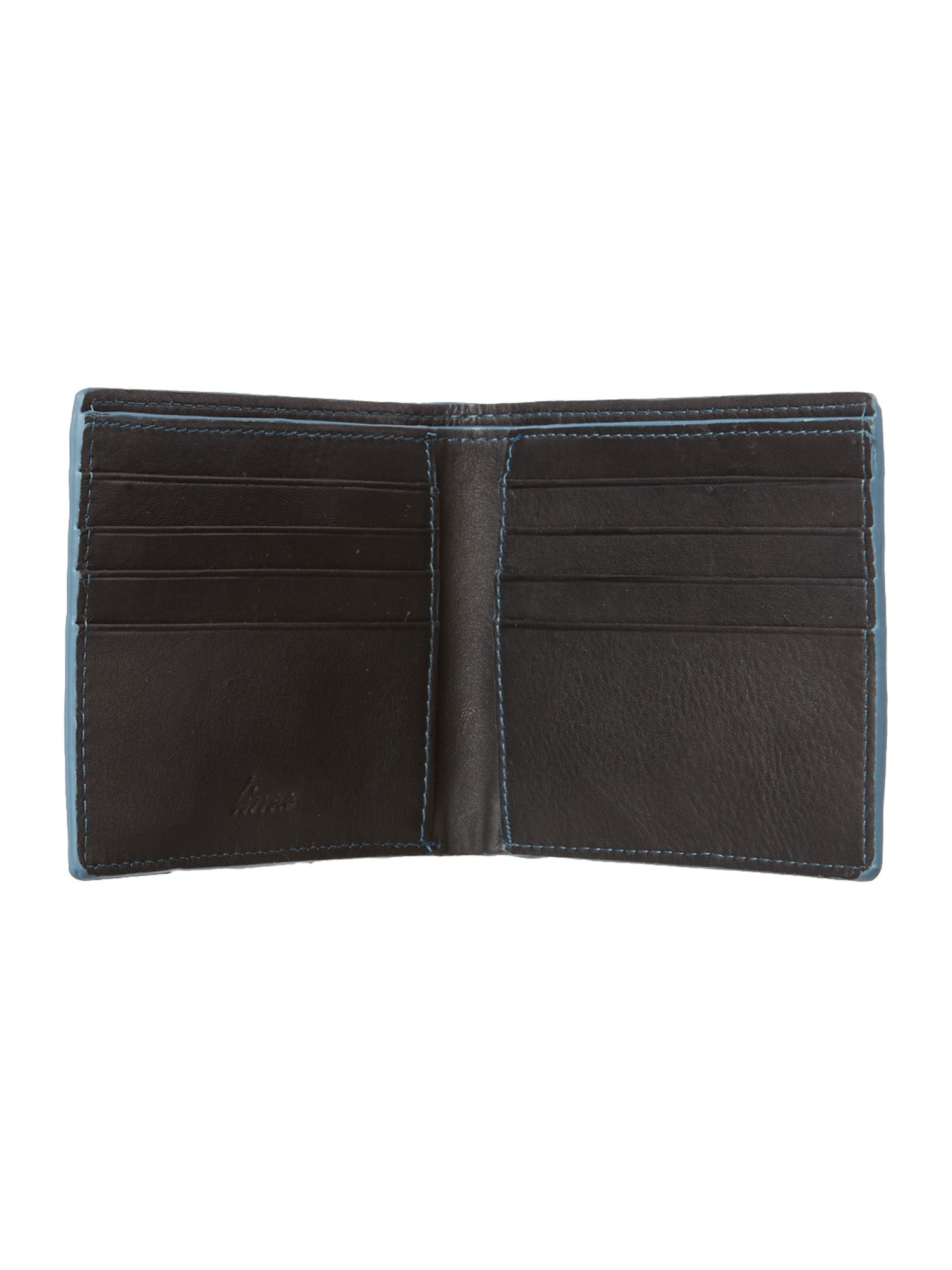 Contrast leather bifold wallet