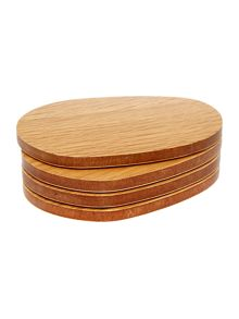 Linea Organic oak coasters set of 4