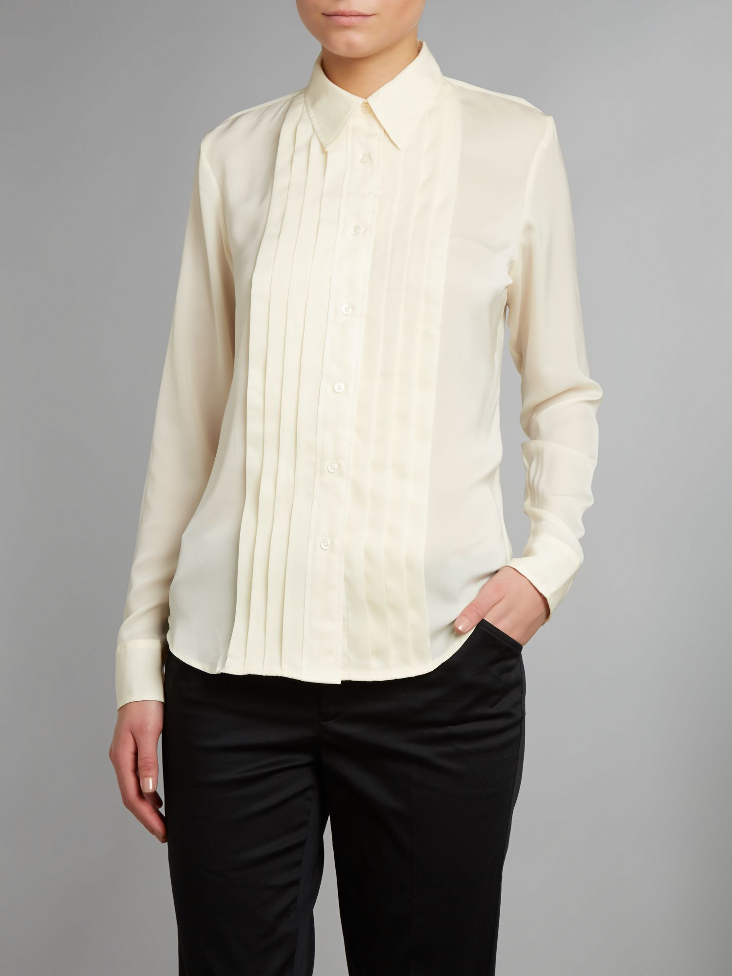 Long sleeved tuxedo shirt