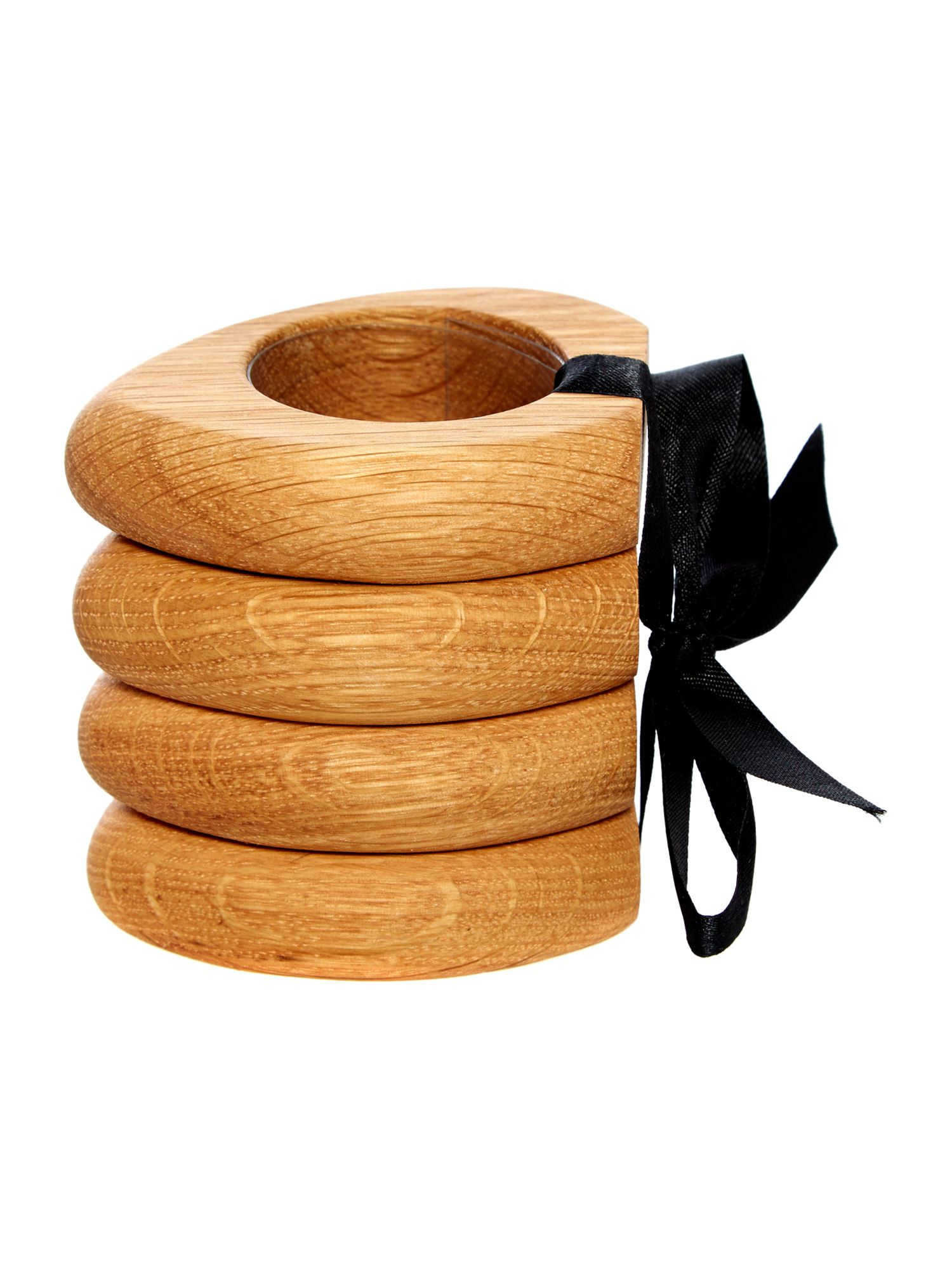 Linea Organic oak napkin rings set of 4