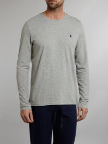 Long sleeved crew neck lounge T-shirt