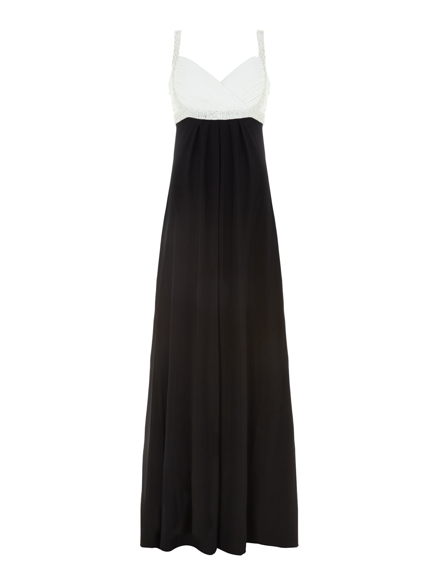 Evening dress with beaded bust