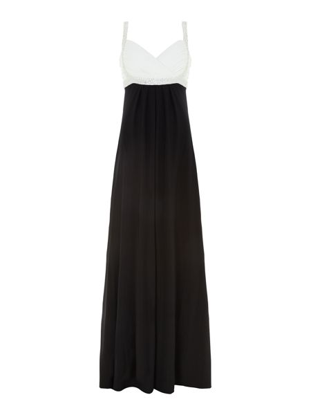 JS Collections Evening dress with beaded bust