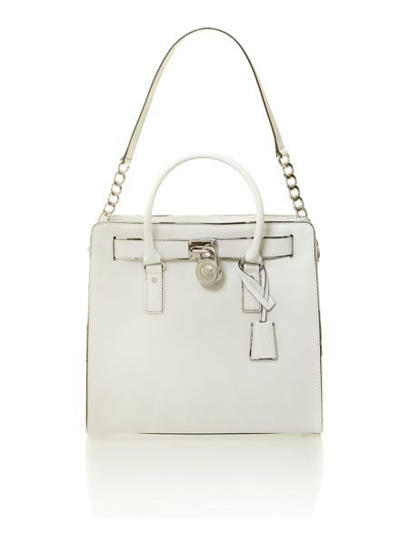 Michael Kors Hamilton large white tote bag