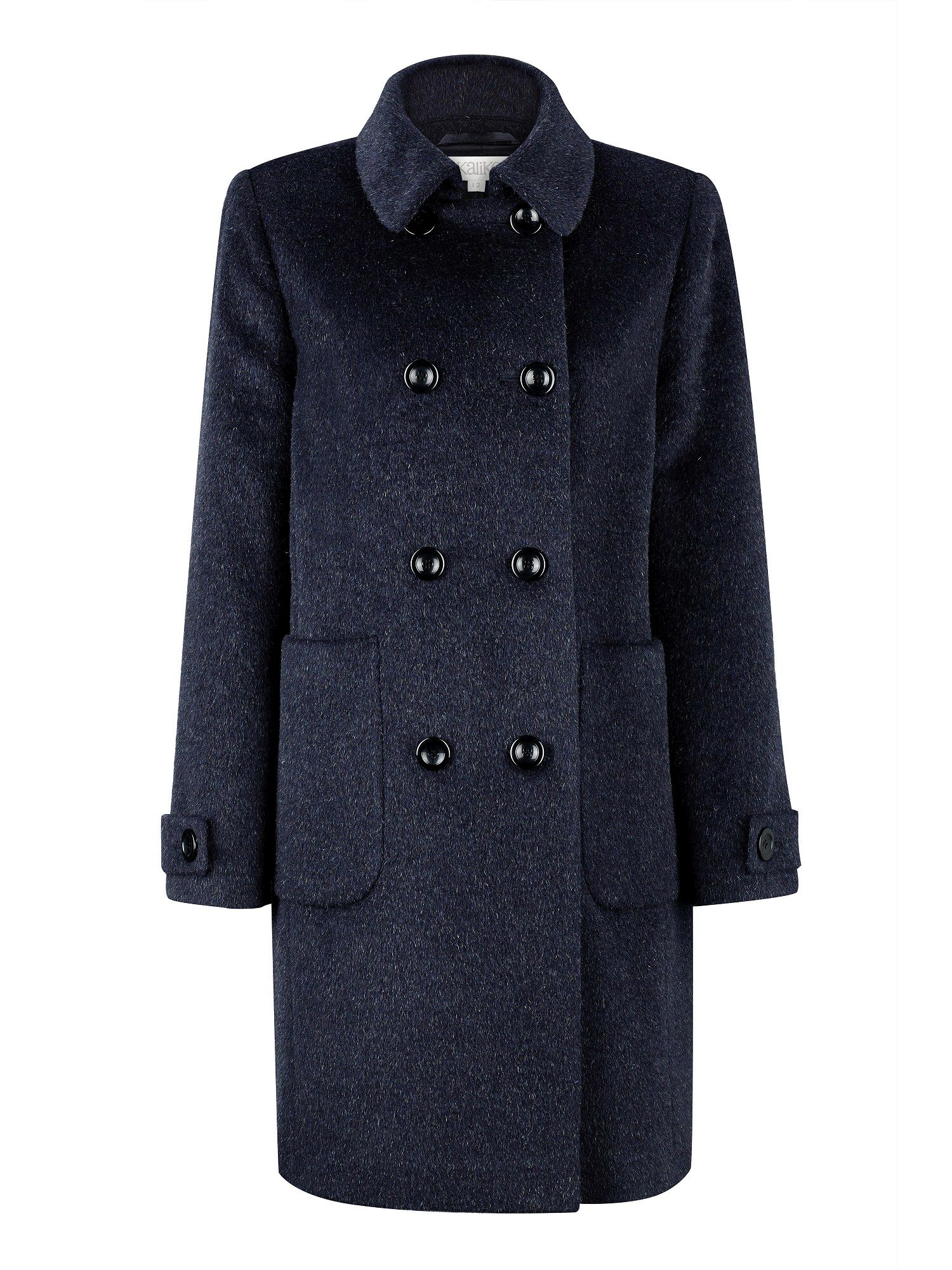 Navy Mohair Coat