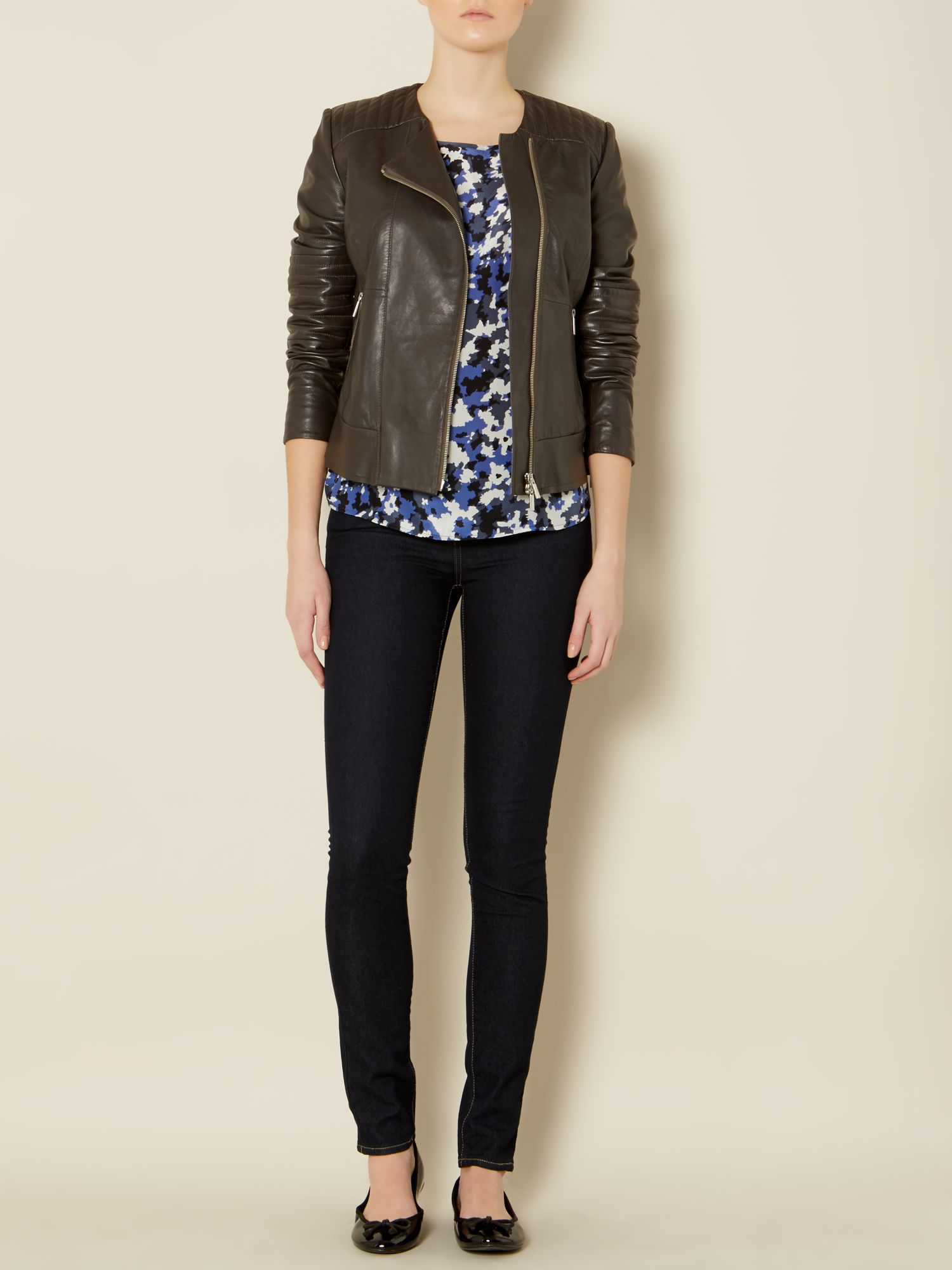 Corrado leather biker jacket