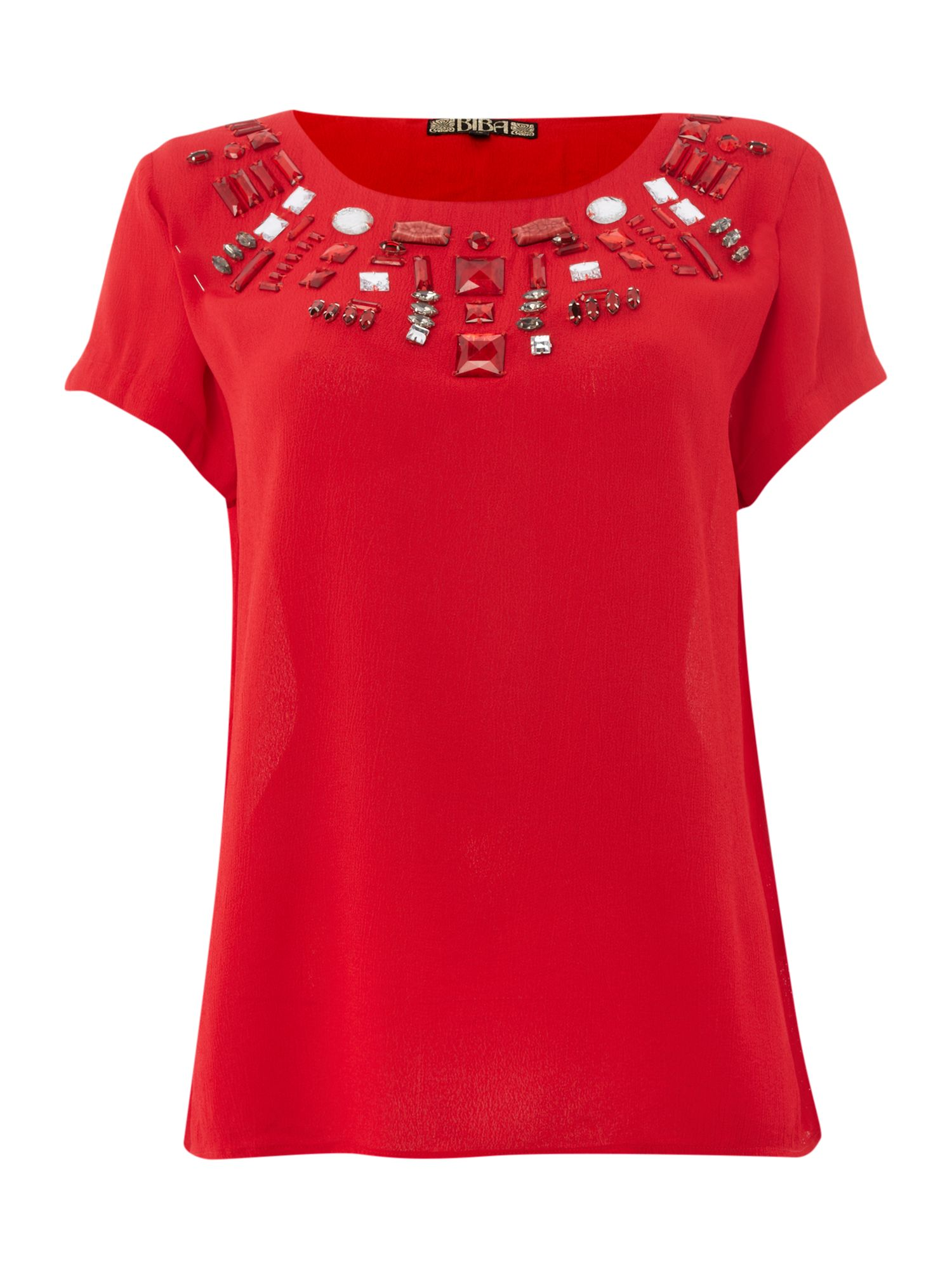 Gem collar top