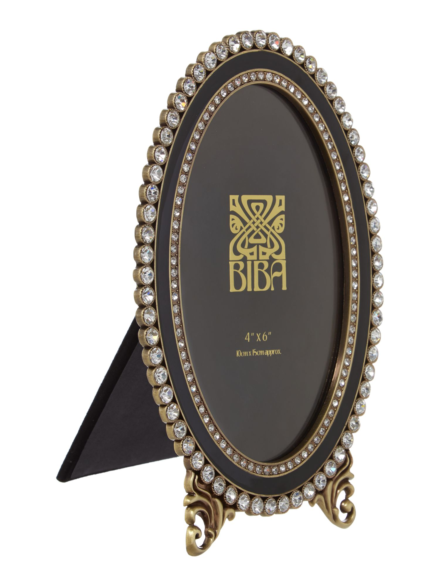 Oval jewel photo frame