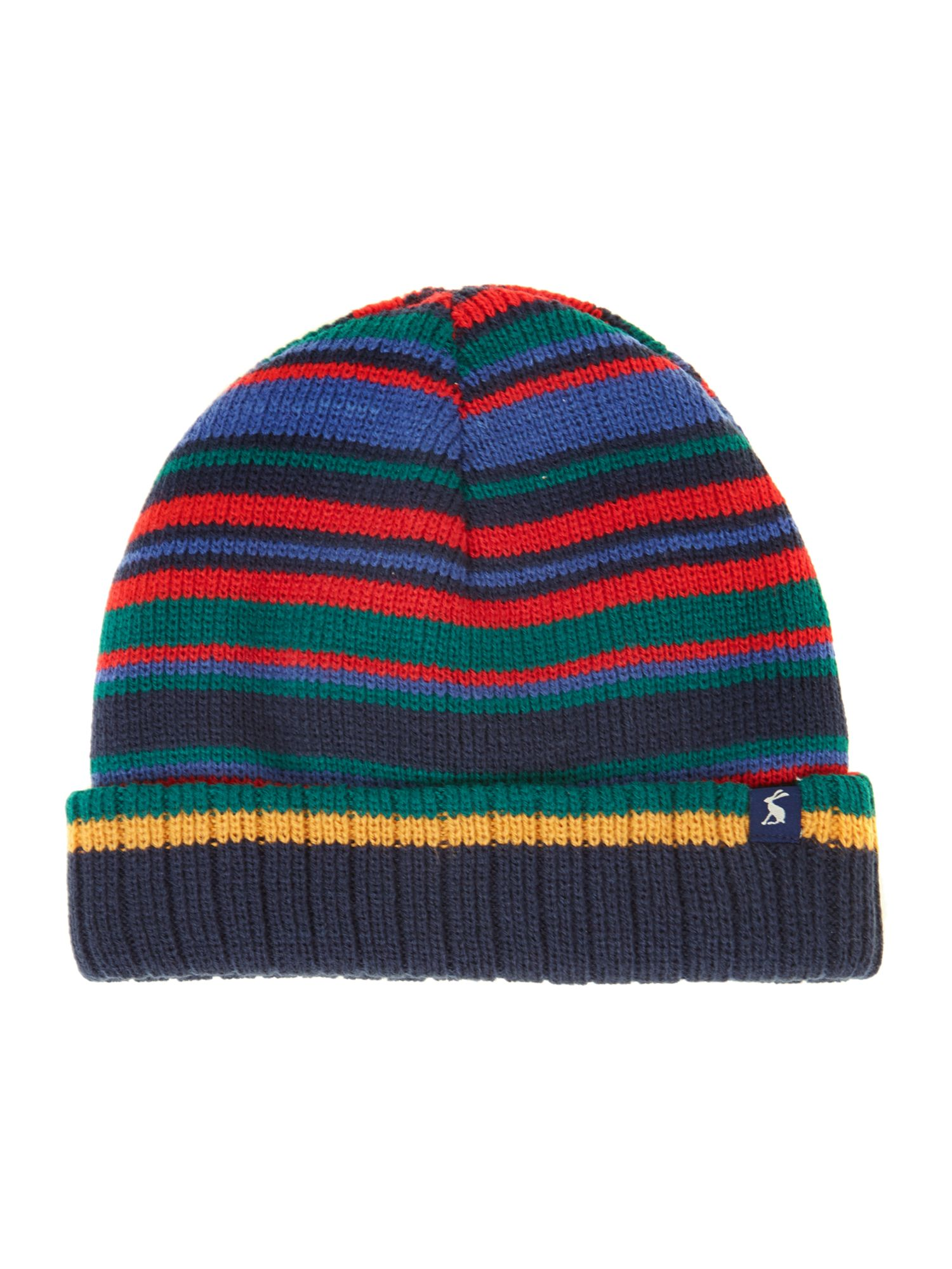Boy`s reversible stripe hat