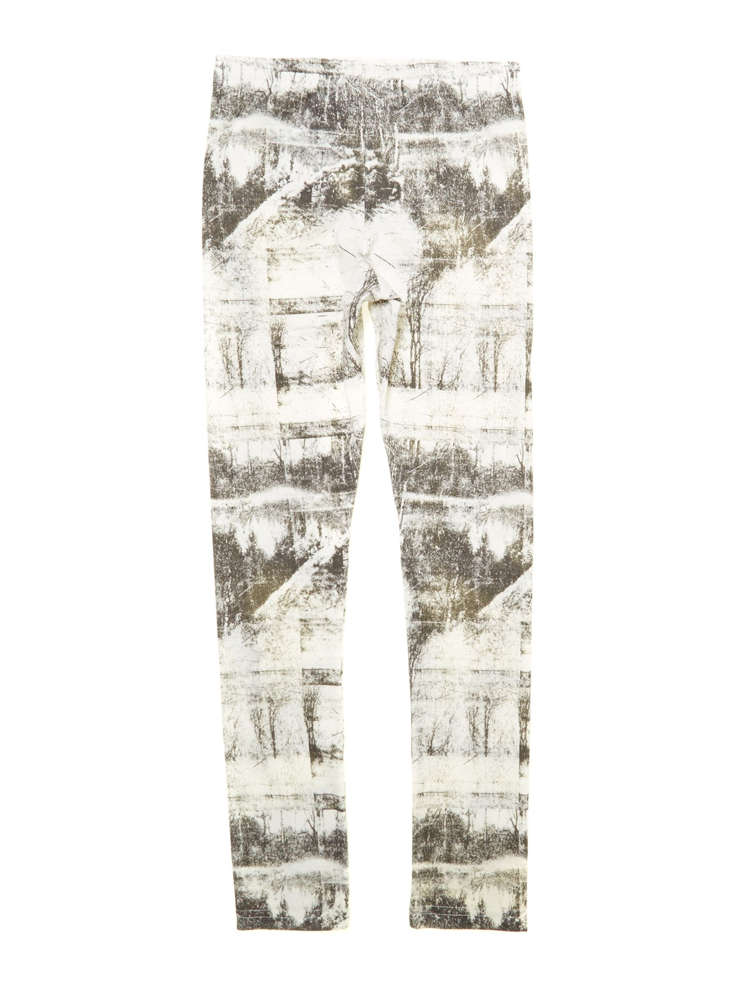 Girl`s graphic print legging