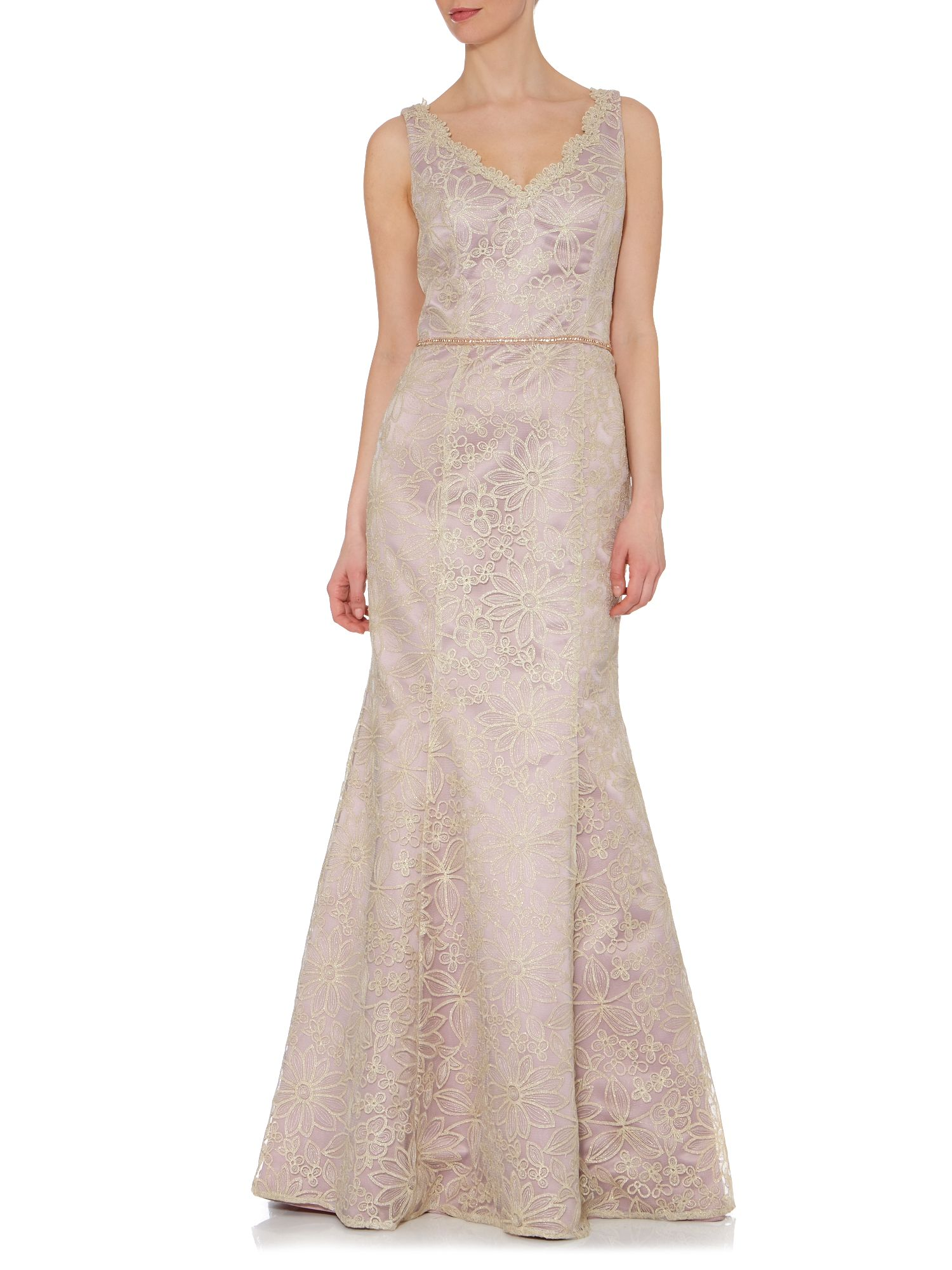Daisy Lace Evening Dress