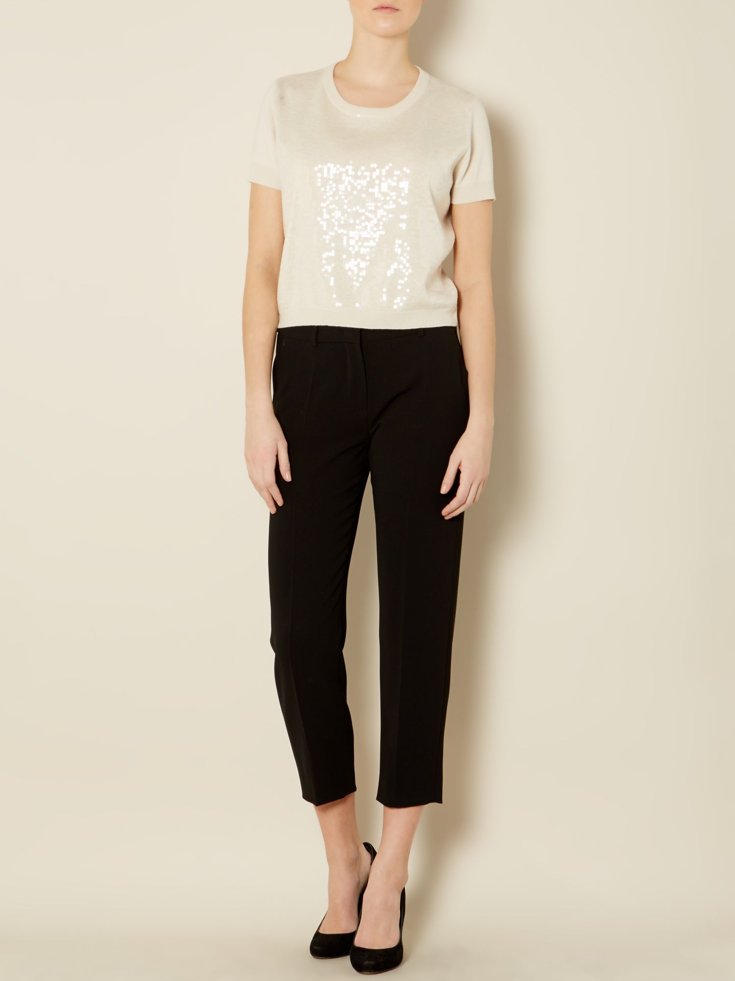 Fiumana cropped straight leg trouser