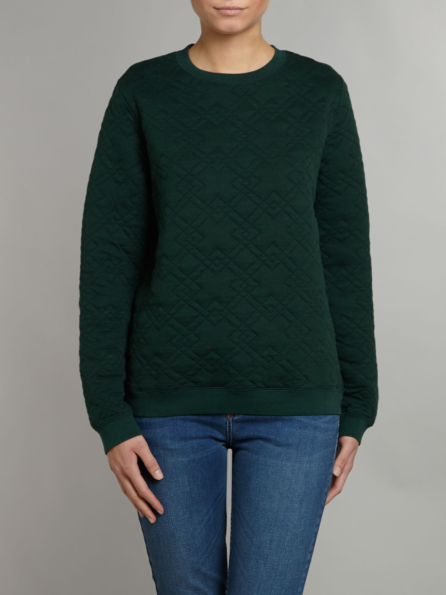 Cara cross quilted sweat