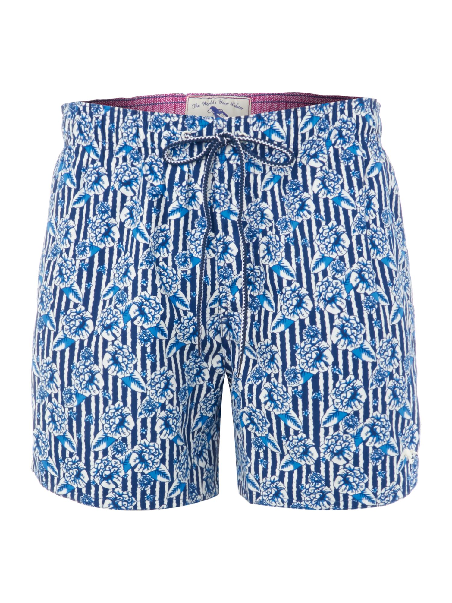 All over floral print swim short