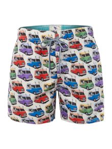 All over ice cream van print shorts