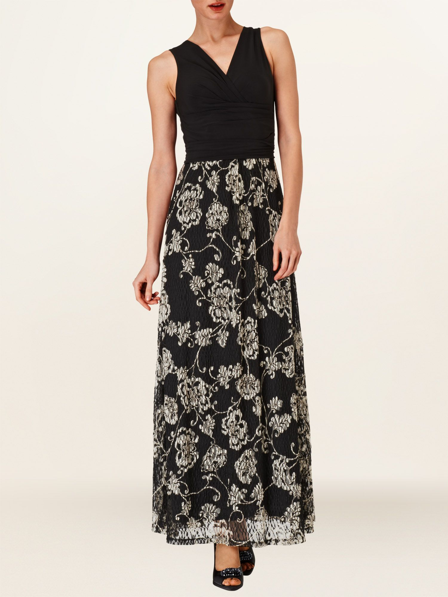Textured lace maxi dress