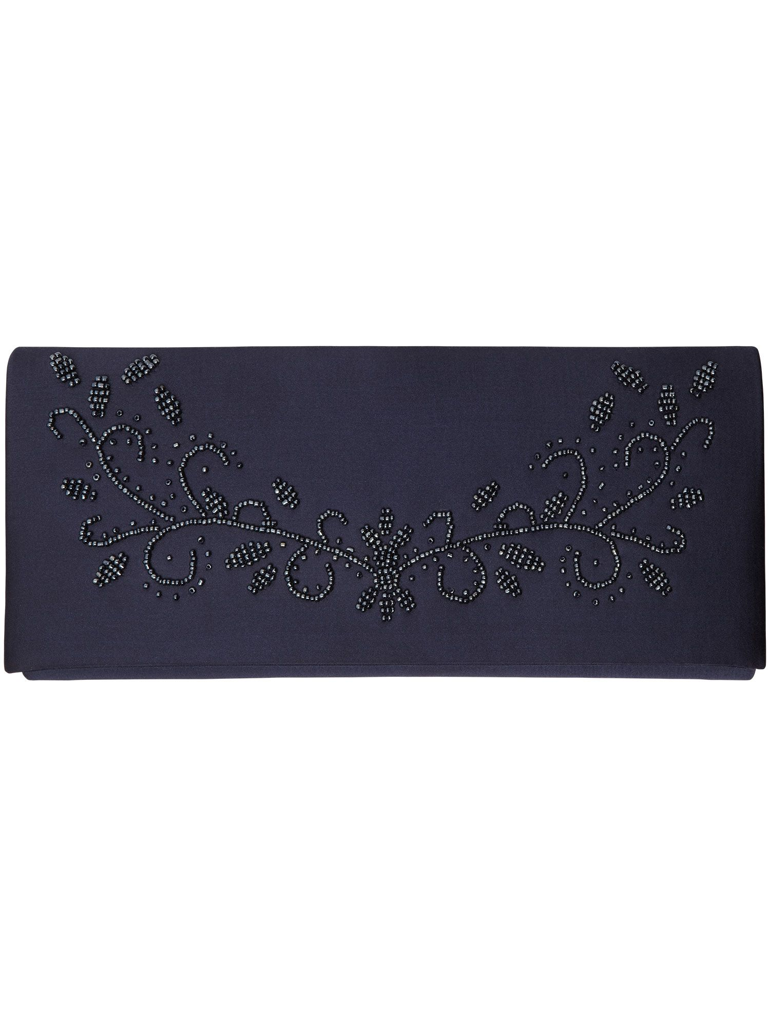 Ava beaded clutch bag