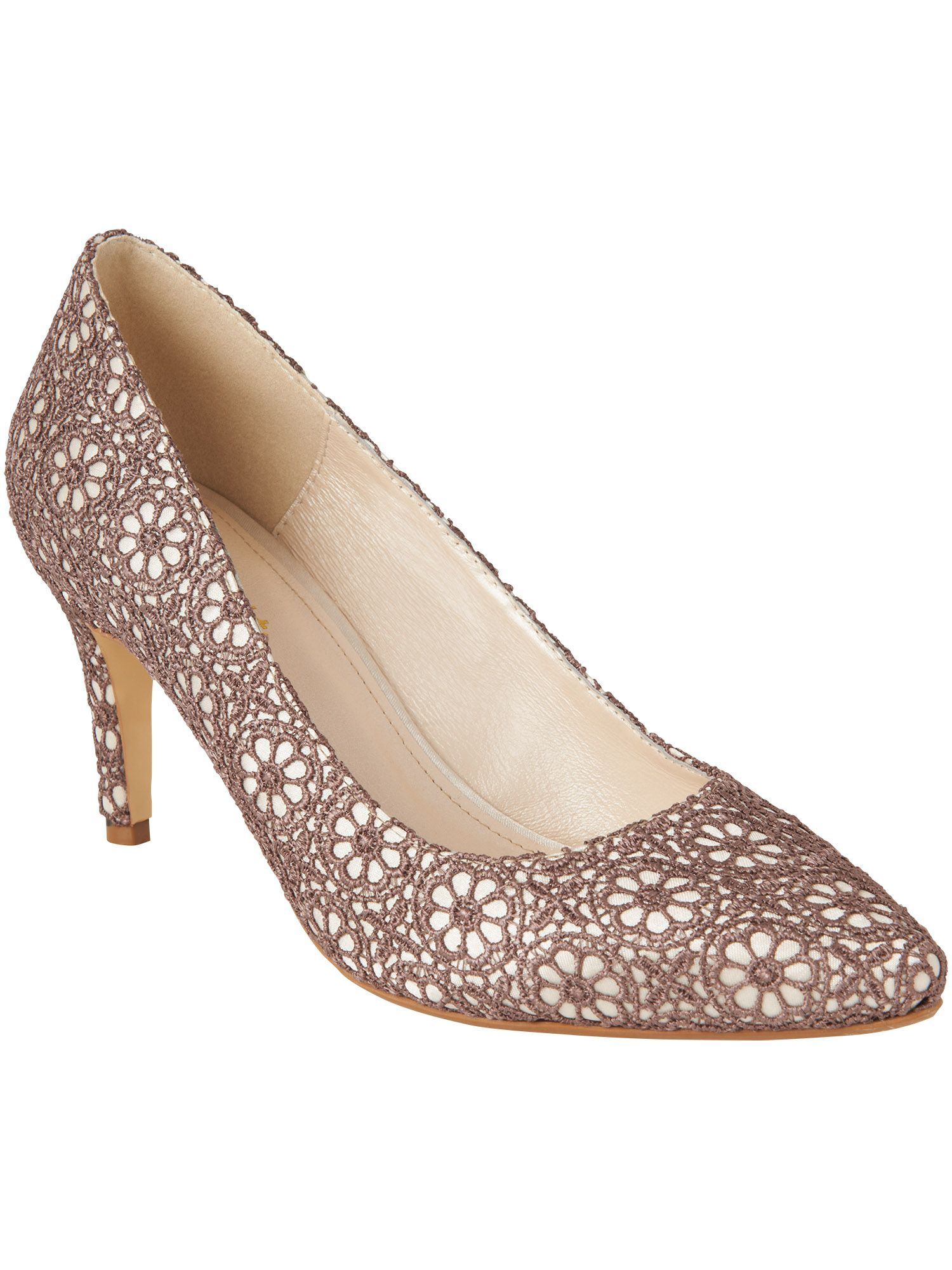 Shilouh lace court shoes
