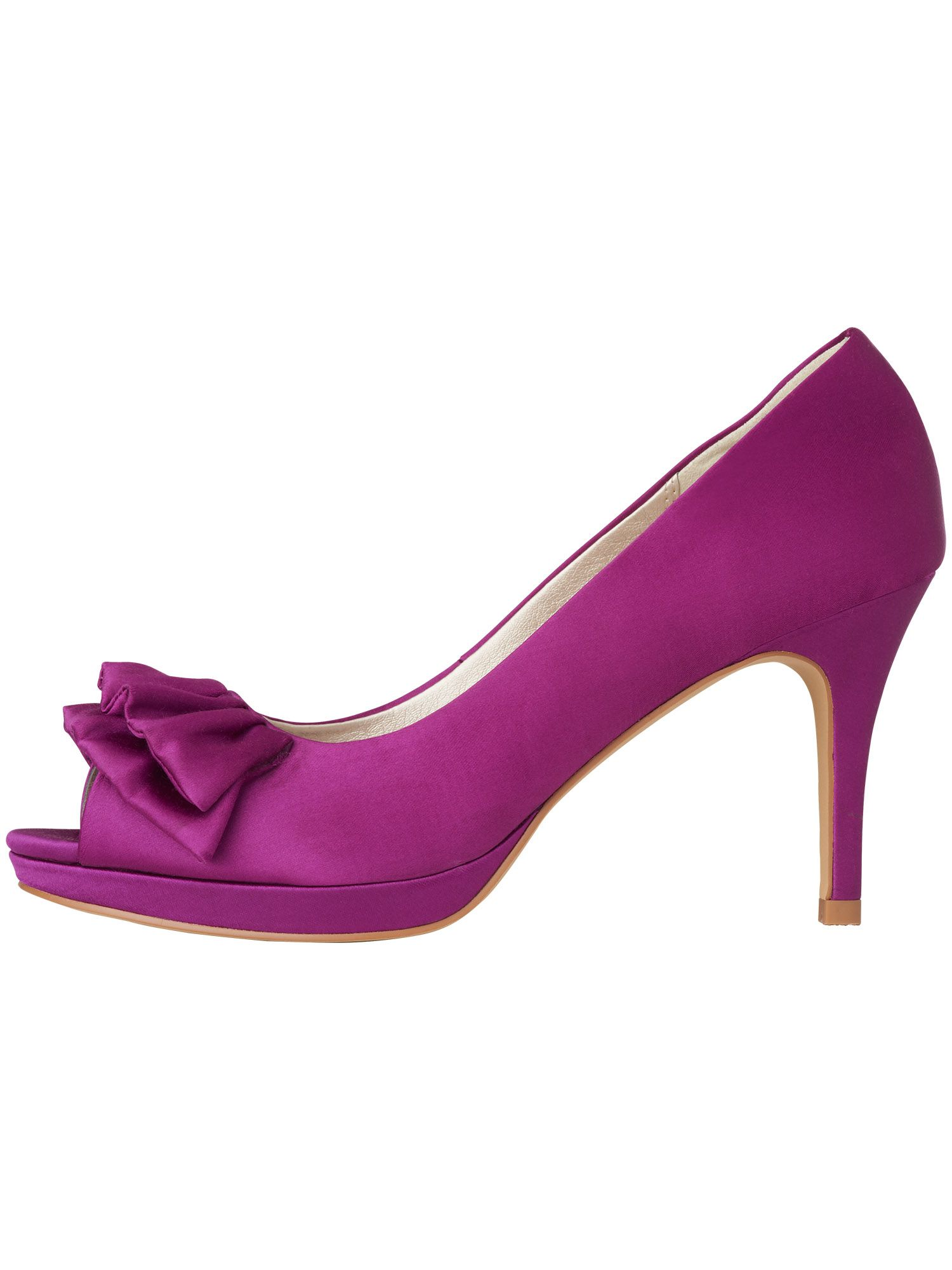 Frill detail satin court shoes