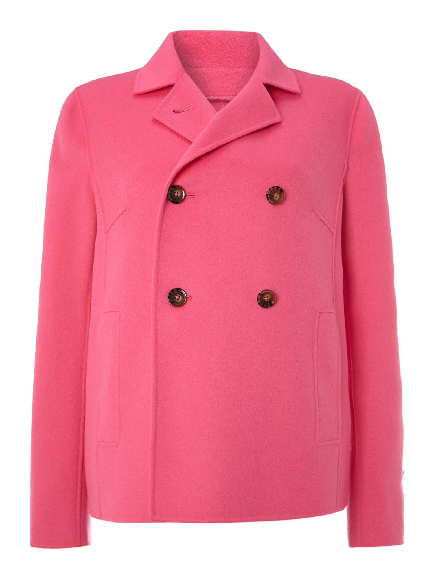Martina fuchsia double breasted wool coat