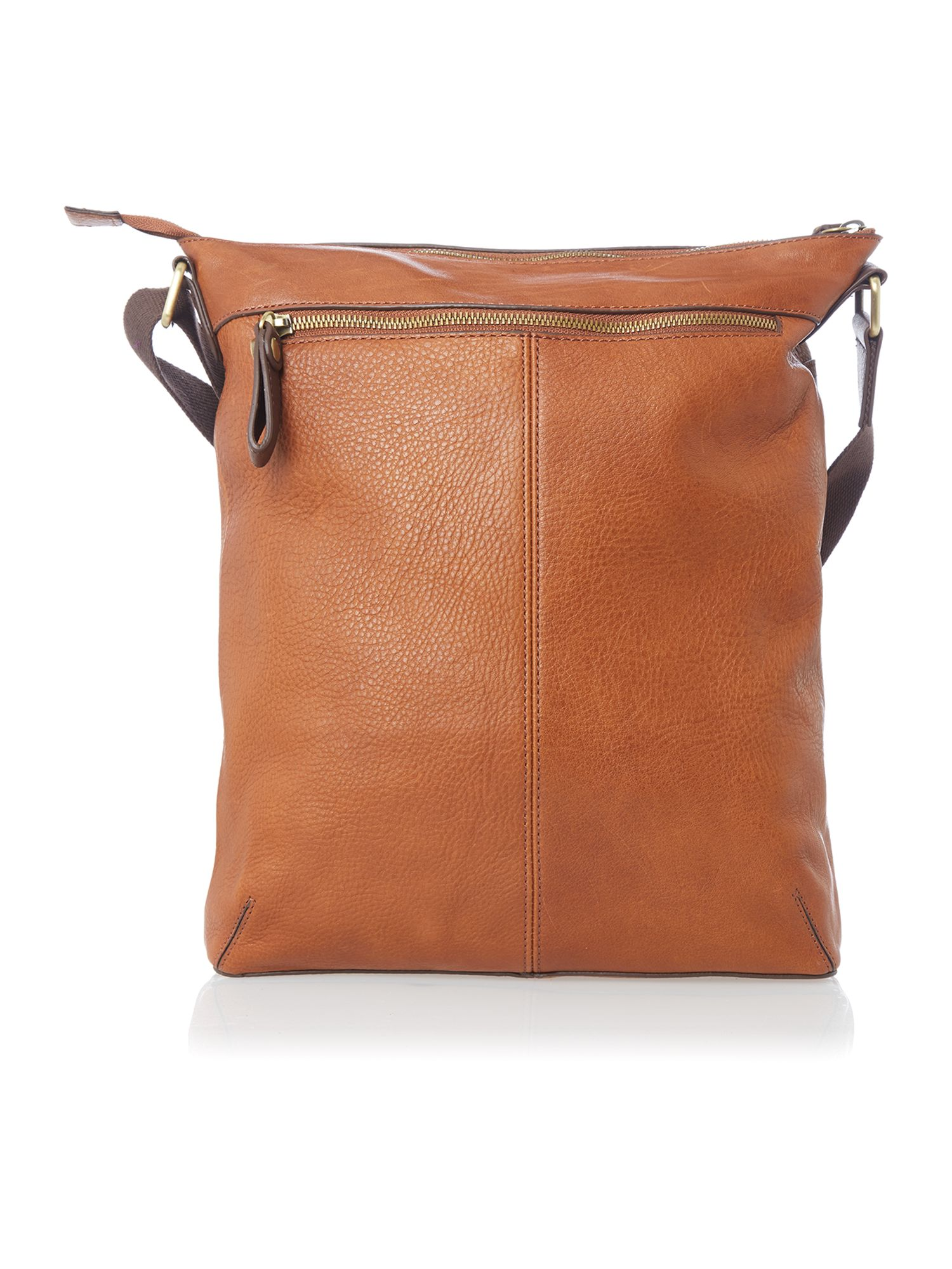Leather bigley flight bag