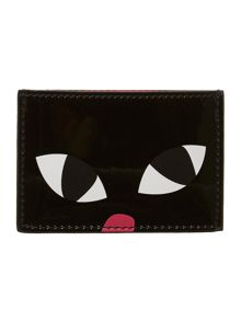 Black cat card holder