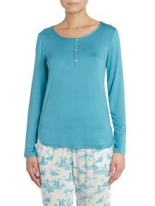 Toile de jour pj top with woven back