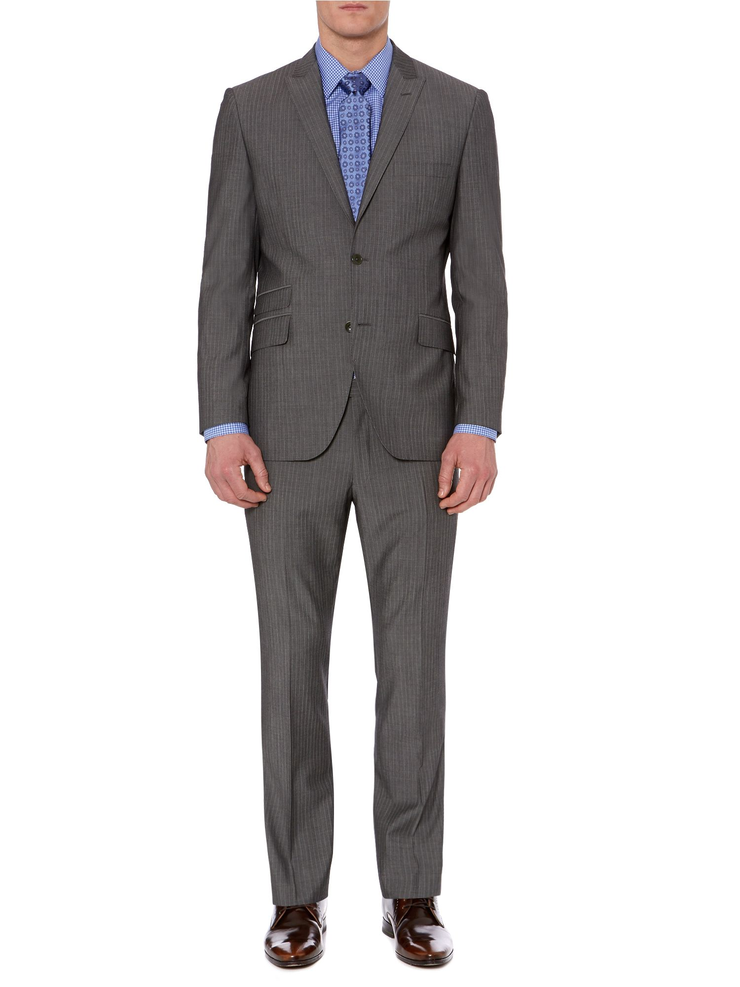 Nure panama soft stripe suit jacket