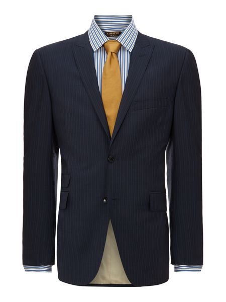 Corsivo Borbero ticket pocket multistripe suit jacket