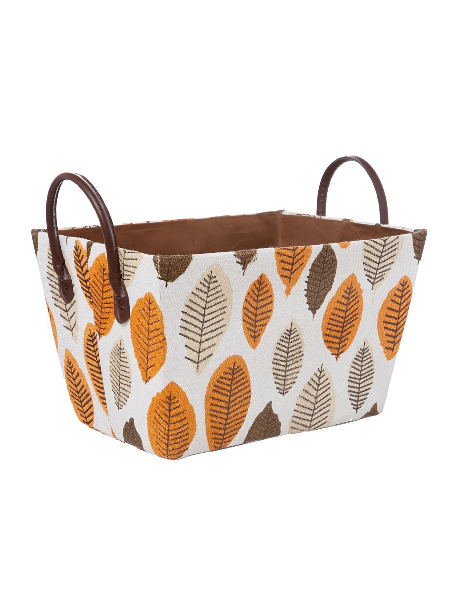 Leaf design basket