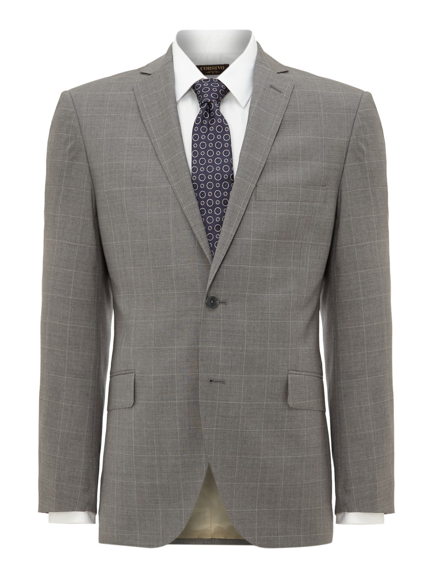 Mens Corsivo Lambo windowpane check suit jacket $69.00 AT vintagedancer.com