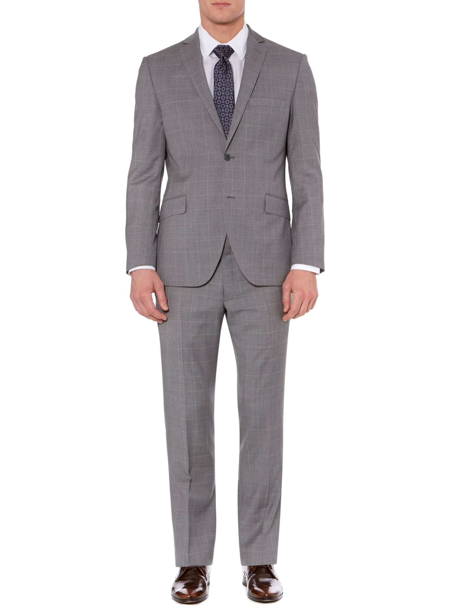 Lambo windowpane check suit jacket