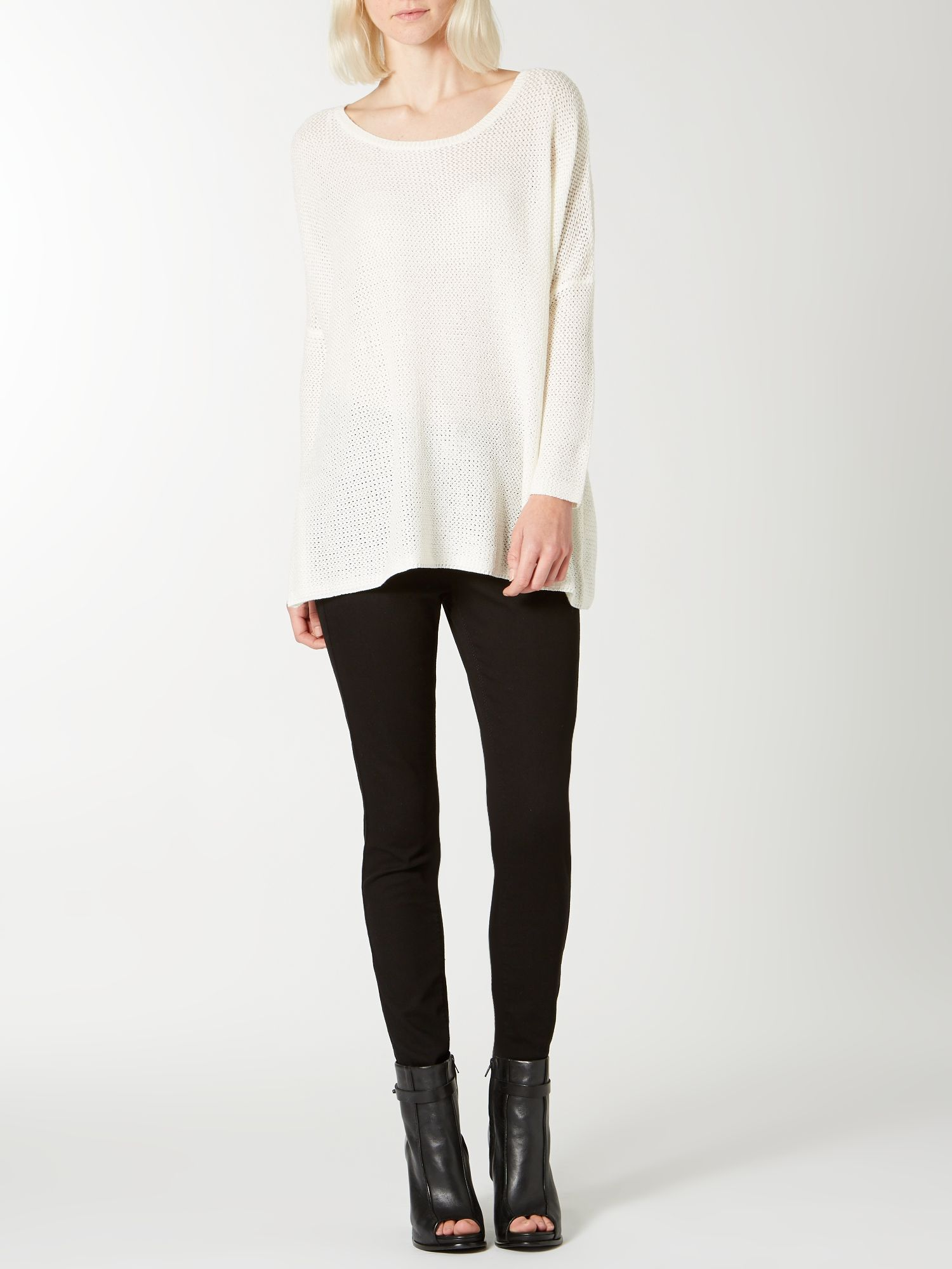Textured oversized knit jumper