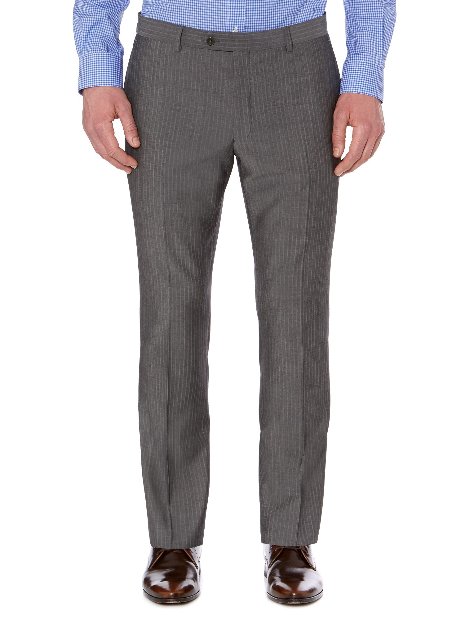Nure panama soft stripe suit trousers