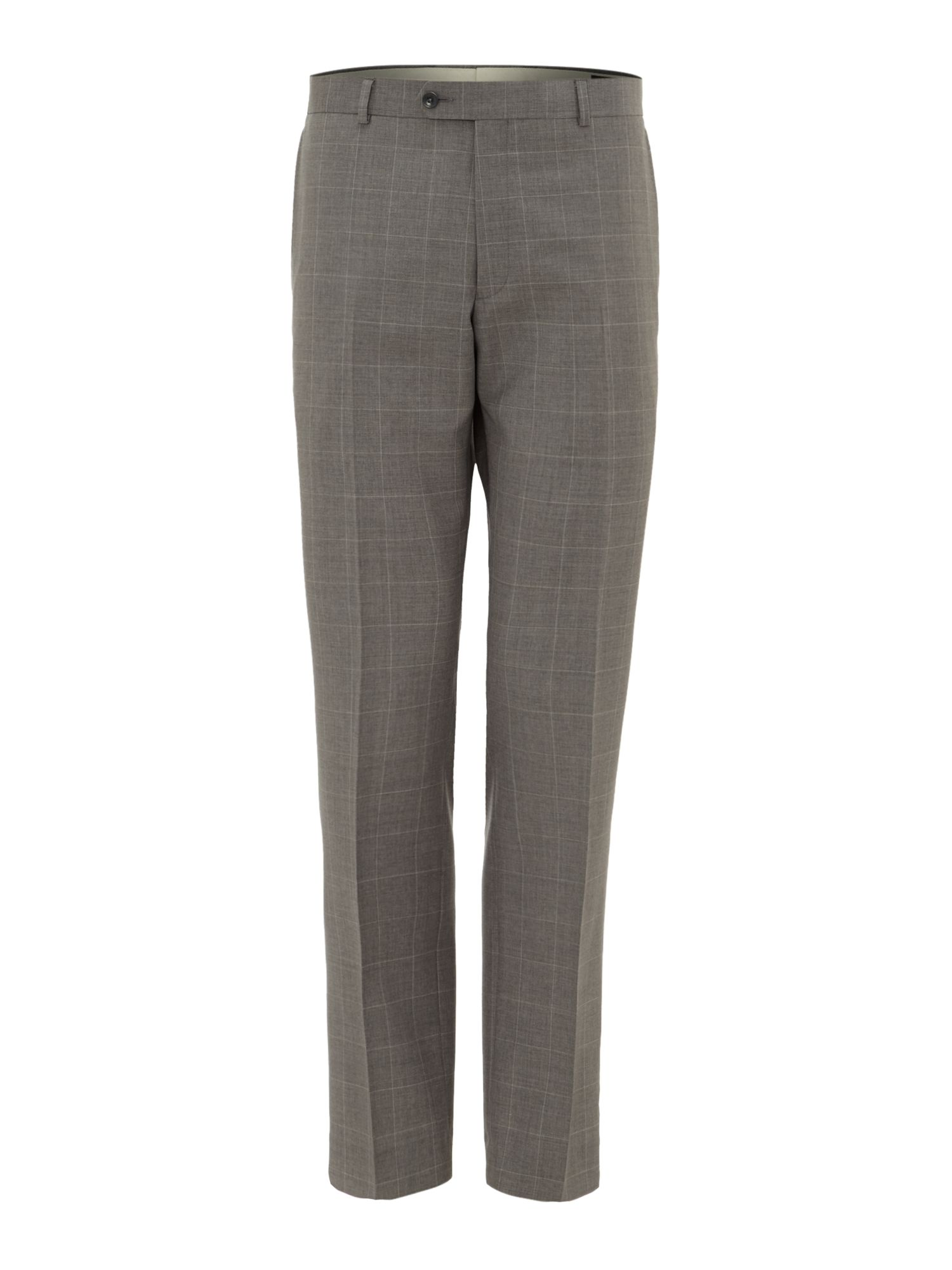 Lambo windowpane check suit trousers