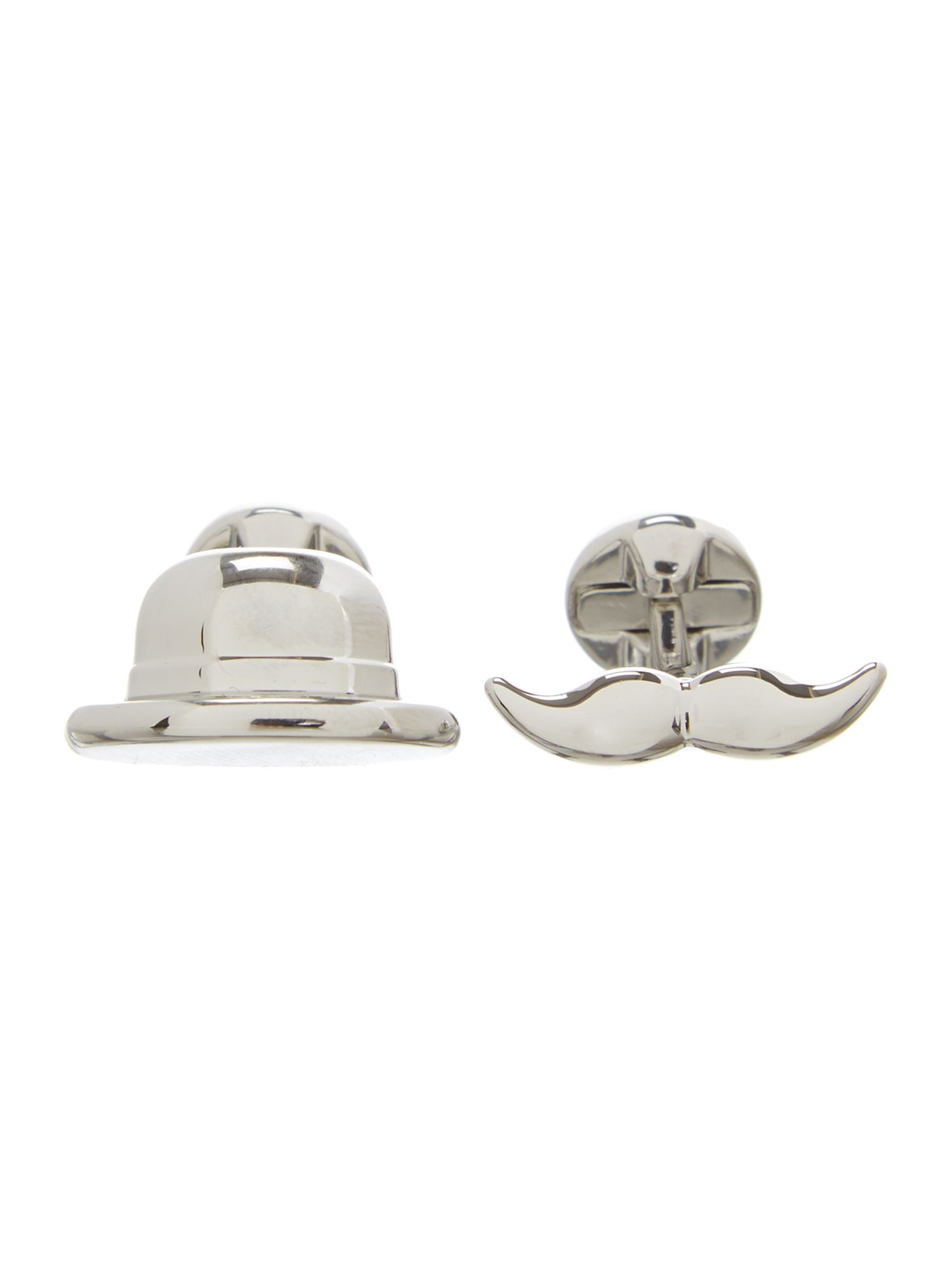 Top hat and moustache cufflinks