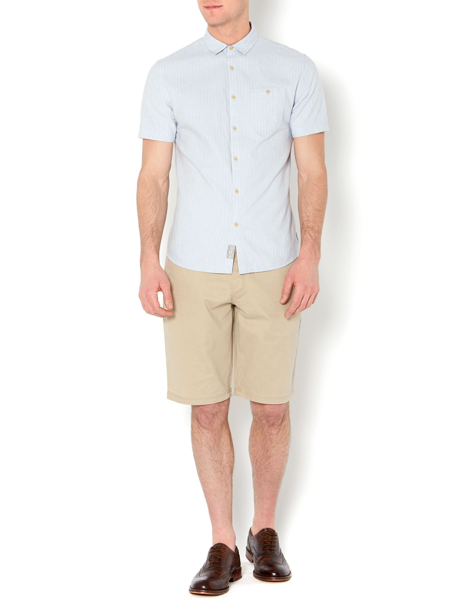 ernest jacquard dot short sleeved shirt