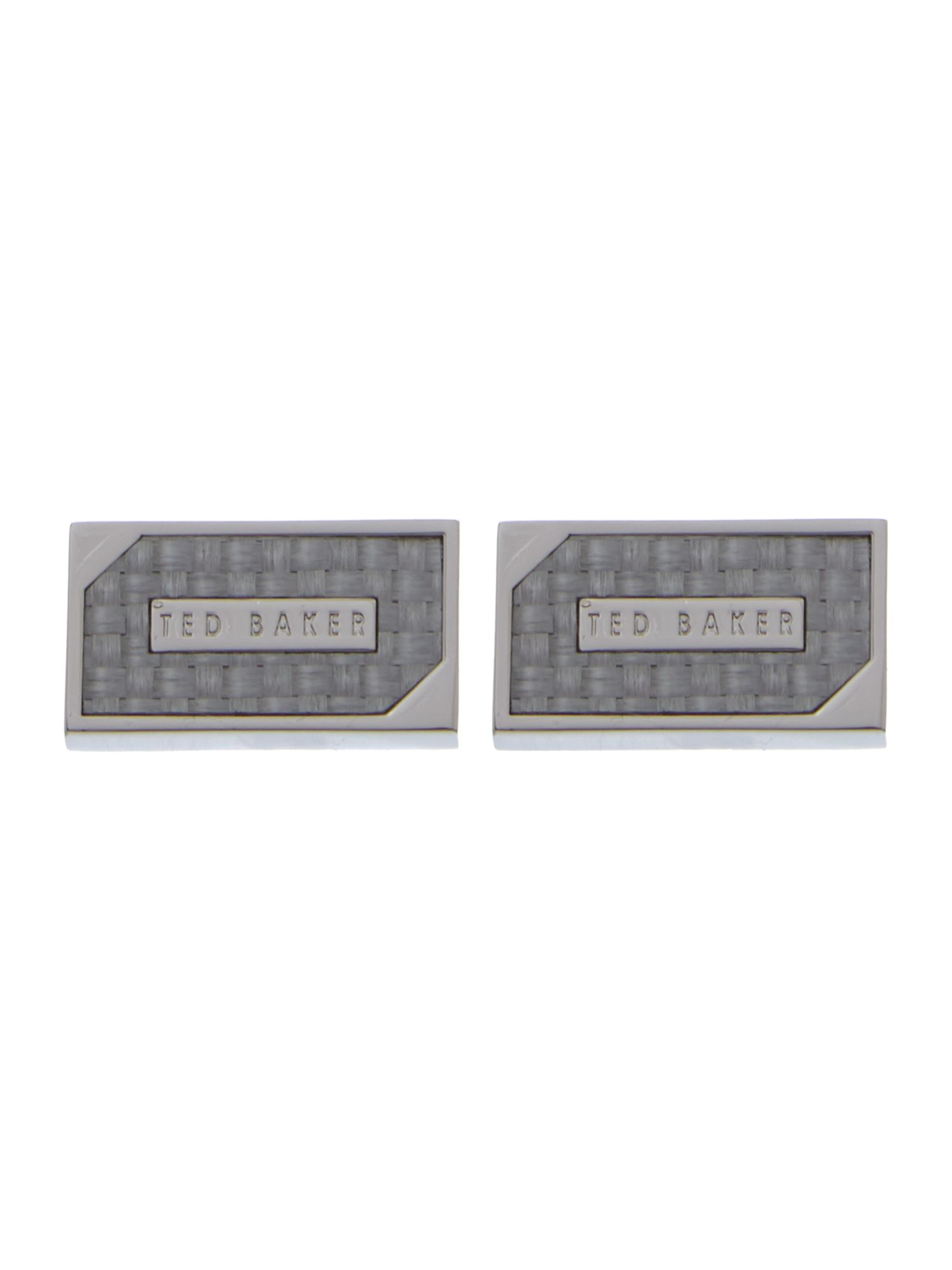 Rectangle classic logo cufflinks