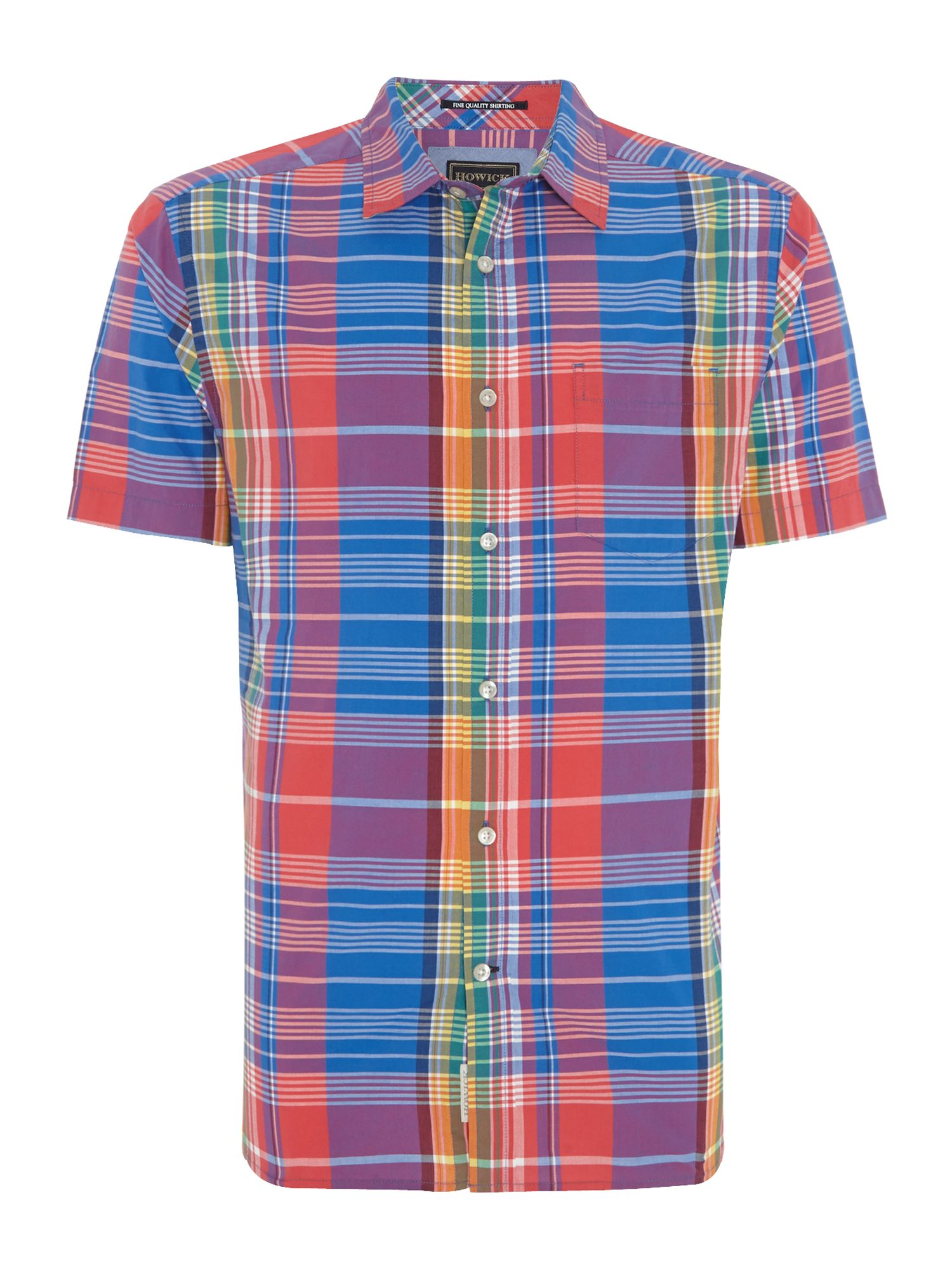 brighton check short sleeve shirt